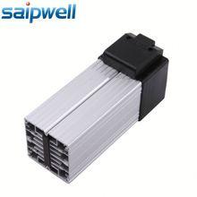 Space-saving fan heater aluminium foil heater