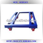 steel flat pallet with wheels