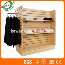 slatwall display gondola,Clothes 4 way slatwall display racks