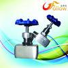 angle type needle valve flow control