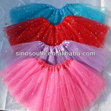 2014 new style cheap star glitter children ballet tutu skirts