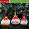 5 pulgadas de navidad colgando botella de vino para adorno del árbol de la familia decoración de la pared 2014 dropshipping