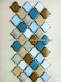 brilho branco grandes arabescos lanterna forma de mosaico da telha cerâmica
