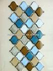 Gloss white big Arabesque lantern shape mosaic ceramic tile