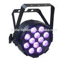 LED FLAT PAR LIGHT SLIM PAR RGBWA UV 6in1 12X12W PAR CAN WASH LIGHT PAR 64 12W WEDDING LIGHT ALUMINUM HOUSE LIGHT PAR56