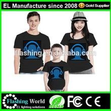 2015 Hot sell led shirt,EL Tshirt,LED TSHIRT