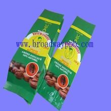 artwork printing food grade foil coffee packing bag/aluminum foil coffee bag