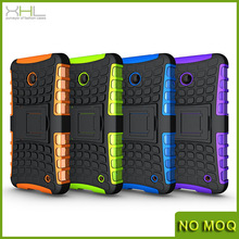 New arrival mobile phone pc + silicon hybrid heavy duty case for nokia lumia 630