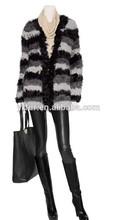 Yr-363 pecora genuino cappotto di pelliccia di agnello/cappotto a maglia 2014/2015 caldo personalizzato