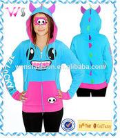 Girls cute printed animal cotton hoodies hoody with ears