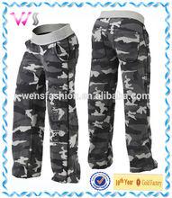 men's fashion baggy long black camo pants wholesale pants