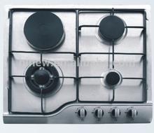 four burner stainless steel gas hob