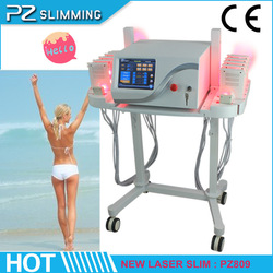 2014 ADVANCED liposlim machine / beauty equipment smart lipo laser for fat burning PZ809 with 12 paddles