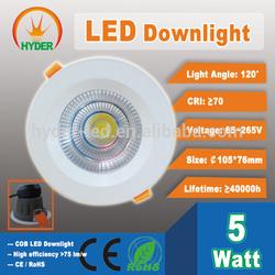 Low price 5W 7W 9W 12W 15W 20W COB LED Down light