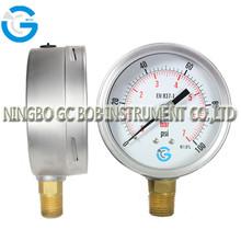 High quality stainless steel brass internal wika style bourdon tube pressure gauge