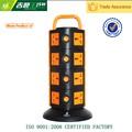 220v 10a eléctrico de tomas de extensión/torre de toma de corriente ca/universal del interruptor del zócalo de salida