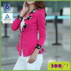autumn ruffle collar slim blazer short design dovetail female outerwear formal women's blazer