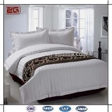 Fashionable Customized White Color 60S Cotton Elegant Wholesale Hotel Bedding