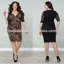 leopard print plus size lace women's clothing