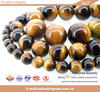 Wholesale fashion semi precious tiger eye yellow gemstone jewelry bead