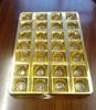 chocolate PVC gold tray at low price
