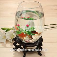 Wholesale egg shaped glass fish tank, fish bowl, arcylic aquarium