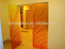 modern design glass door, art glass door, fusion glass door
