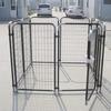 1big dog use metal welded chain link wire out door dog kennels cages/black pen kennel dog park