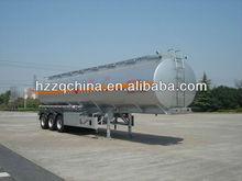46500L Aluminum Alloy (Ellipse shape) Rear 3 Alxes Fuel Tank Semi trailer