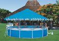 Inflável piscina armação de aço