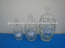 bowling shape flint glass bottle for wine packing