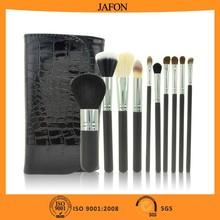New black 10pcs personalized makeup brush set