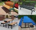 Ao ar livre fabricante de móveis, Banco de parque, Trash bin, Vaso de flores, Pavilion, Plástico reciclado madeira