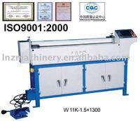 CNC Asymmetrical 3 roller plate bending machine