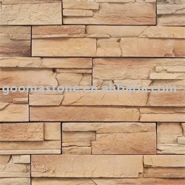 cultura de piedra artificial para el exterior y el interior de la pared