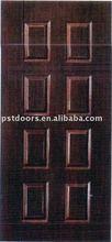 8 Panel PVC laminated steel door,door core is poly foam