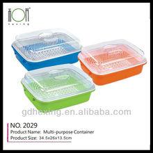 multifunction Plastic bread storage basket