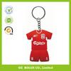 soccer jersey mascot/ football shirt Plastic/ Rubber/ Silicone/ Soft PVC/ Vinyl/ Acrylic/ Metal Key Chain key ring