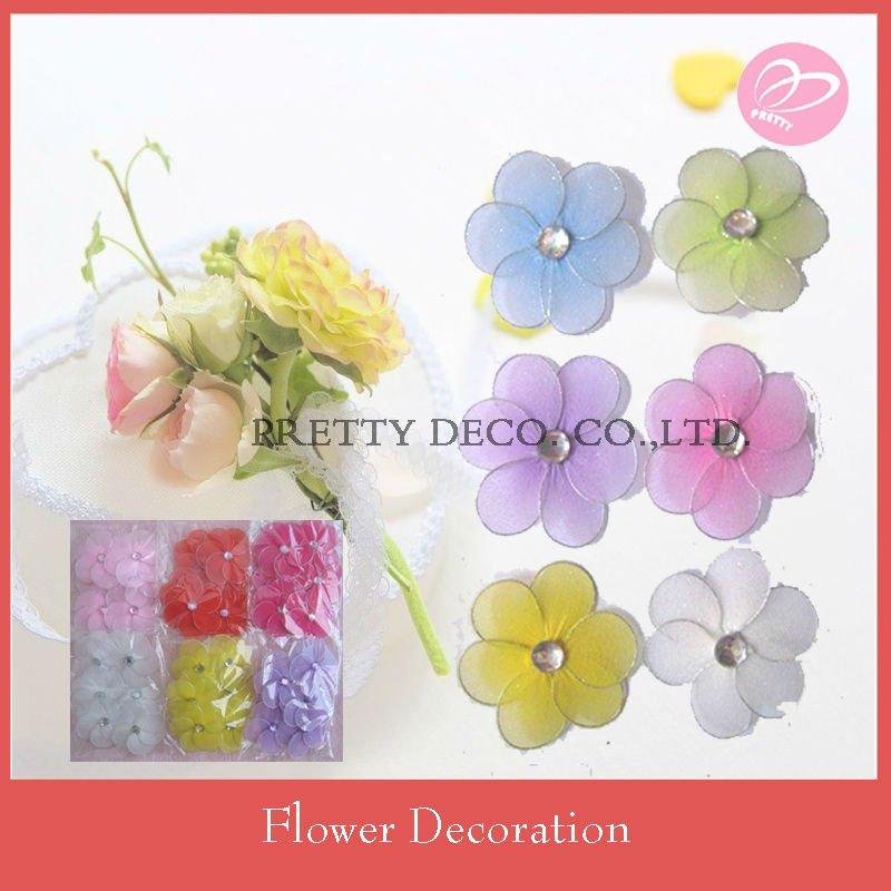 Mini craft silk flowers for wedding table decoration, View mini