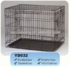 New Black Suitcase Wire Folding Pet Crate Dog Cage