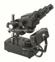 ZTX-E-ZB 10X-40X Diamond/Jewelry Microscope with Darkfield Attachment, Square Light and Tweezer, CE, ROHS