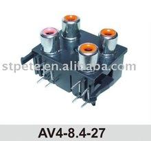 (AV4-8.4-27) 4 pin audio RCA jack