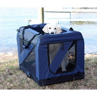 Portable Dog Crate Soft Travel Carrier Kennel Cage Tote Pet Large Size Train