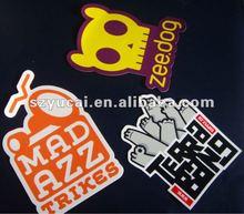 customized waterproof promotional die cut pvc sticker