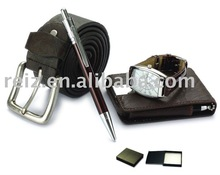 business gift,belt,card holder and watch set
