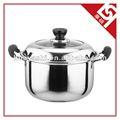 De alta qualidade em aço inoxidável panela de sopa cozinhar 18 cm