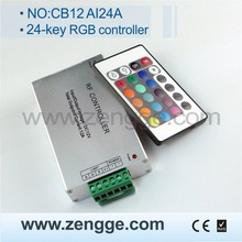 new invention 2013! 24-key Infrared RGB LED Controller with CE&RoHS (Aluminum version)