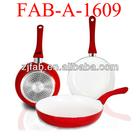 3pcs aluminum ceramic fry pan set induction as seen on tv