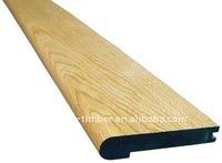 Stair Tread of Laminted wood with Pine, Oak,Maple veneer wraped.