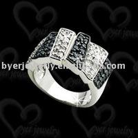 jewelry 925 silver wedding penis ring setting CZ stone